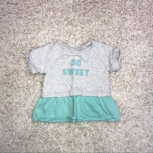 "Carter's ""So sweet"" Shirt Baby Size 6M"